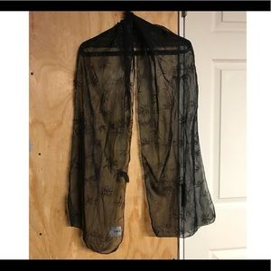 Accessories - Sparkly black scarf